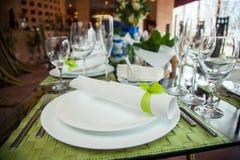 Serving Table Restaurant Stock Image