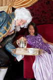 Serving tea for the Lady Stock Images