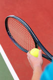 Serving for tennis match Stock Photography
