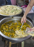 Serving Thai green curry Royalty Free Stock Photography