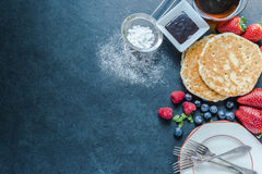 Serving traditional pancakes Royalty Free Stock Photo