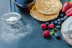 Serving traditional pancakes Royalty Free Stock Image