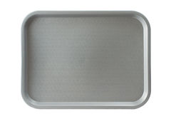 Serving tray. A gray serving tray isolated on white Stock Images