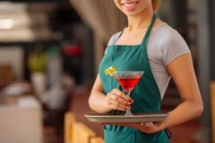 Serving tropical cocktail Stock Photo