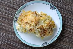 Serving of tuna casserole Royalty Free Stock Image