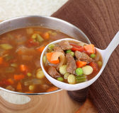 Serving Vegetable Soup Royalty Free Stock Photos