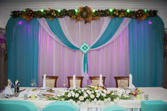 Serving wedding table in the New Year theme Stock Image