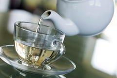 Serving white tea Stock Photo