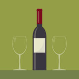 Serving wine. Stock Photography