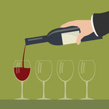 Serving wine. Royalty Free Stock Images