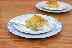Servings of quiche lorraine Royalty Free Stock Photos