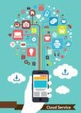 Serviço móvel da nuvem Fotos de Stock