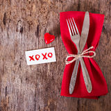 Servir la Saint-Valentin Images libres de droits