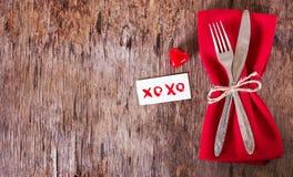 Servir la Saint-Valentin Photos libres de droits