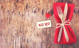 Servir la Saint-Valentin Photo libre de droits