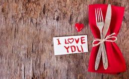 Servir la Saint-Valentin Photo stock