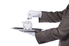 Servir le meilleur service de finances Images stock