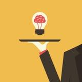 Servir une idée Image libre de droits