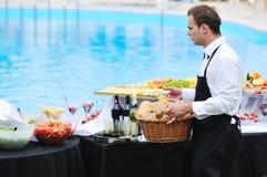 Servire del buffet Immagine Stock