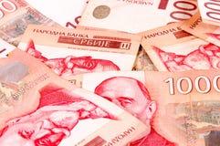Servisch geld Stock Foto
