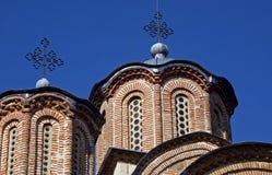 Servisch orthodox klooster, Gracanica, Kosovo stock afbeelding