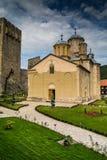 Servisch Orthodox klooster Manasija Royalty-vrije Stock Fotografie