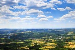 Servisch platteland royalty-vrije stock foto's