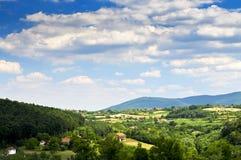 Servisch platteland stock afbeelding