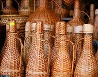 Servische brandewijn bij markt royalty-vrije stock afbeeldingen
