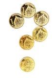 Servische dinarmuntstukken Royalty-vrije Stock Foto