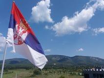 Servische hemel - Smederevo stock afbeelding