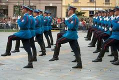 Servische legerwacht Stock Foto