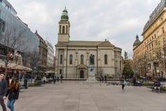 Servische Orthodoxe Kathedraal, Zagreb royalty-vrije stock foto
