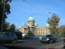 Servische parlament royalty-vrije stock afbeeldingen