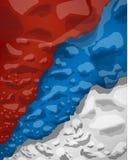 Servische vlag van rookwolken, vectorillustratie stock illustratie