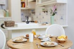 Servito per la prima colazione Fotografia Stock