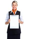 servitriskvinna Arkivbilder