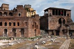 Servizi del Trajan a Roma, Italia Fotografie Stock