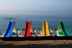 servizi della barca del Affitto-un-pedale Immagine Stock
