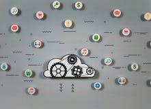 Servizi della nuvola per il concetto di e-business fotografie stock libere da diritti