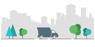 Servizi di distribuzione del carico, rapidi, societ? di trasporto, bollettino di consegna, seguente la struttura del pacchetto di royalty illustrazione gratis