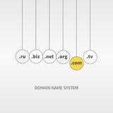 Servizi di Domain Name nelle palle Immagini Stock