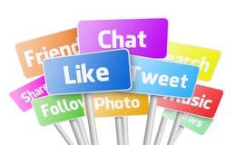 Servizi di media sociali Fotografie Stock Libere da Diritti