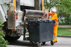 Servizi di riciclaggio urbani dell'immondizia e dello spreco Immagine Stock Libera da Diritti