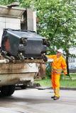 Servizi di riciclaggio urbani dell'immondizia e dello spreco Fotografie Stock Libere da Diritti