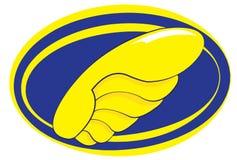 Servizi di trasporto blu e logo giallo royalty illustrazione gratis