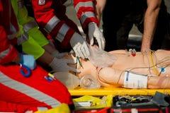 Servizi medici di emergenza dell'elicottero Immagini Stock Libere da Diritti