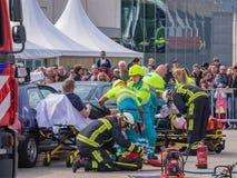 Servizi medici olandesi nell'azione Fotografie Stock