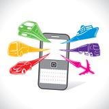 Servizi online di prenotazione delle azione di trasporto   Fotografia Stock Libera da Diritti