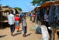 Servizio africano Spiaggia di Kande Baia di Nkhata malawi Fotografie Stock
